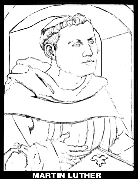 coloring pages of martn luther - photo#8